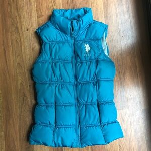 Teal US Polo Puffer Vest